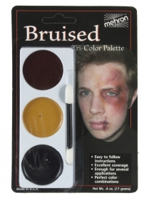 403CB Tri-Colour Make-up Palette - Bruise - Carded