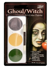 403CG Tri-Colour Make-up Palette - Ghoul/Witch - Carded