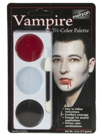 403CV Tri-Colour Make-up Palette - Vampire - Carded