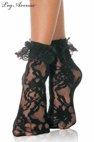 LACE ANKLET WITH RUFFLE