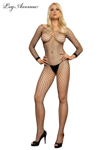 8380BOS INDUSTRIAL LONG SLEEVED BODYSTOCKING O/S BLACK