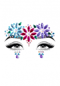EYE023 DAHLIA ADHESIVE FACE JEWELS STICKER