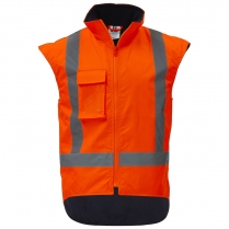 Orange Hi-Vis Fleece Lined Vest