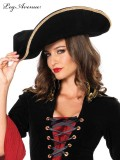 2078 UNISEX PIRATE HAT WITH GOLD TRIM