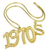 60394 1970'S Disco Fever Gold Necklace