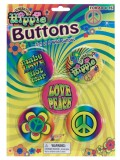 62165 Hippie 5Pce Button Set