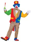 62170 Clown Costume With Hat, Jacket, Pants & Bow Tie