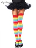 6334MOS RAINBOW THIGH HIGHS O/S MULTICOLOR