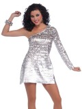 68672 70's Disco Honey Dress Standard