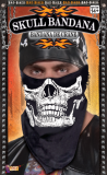 70088 Skull Face Bandana - Black