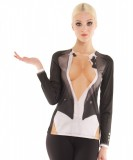 Cleavage Tux Long Sleeve Top