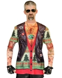 Biker Ugly Christmas Sweater with Tattoos
