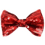 N8097 Bow Tie Sequin Red