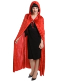 N96942 Cape Red Velvet with Hood