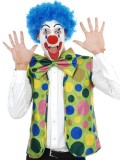NAF125 Clown Set Spotty -Vest, Jumbo Bow Tie & Nose