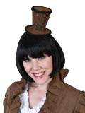 NAF3037 Hat on Headband Steampunk Brown