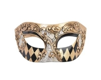 ND12421B Anthony Eye Mask - Gold & Black