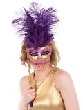 ND2013P Belly Dancer Gold & Purple Eye Mask on Stick
