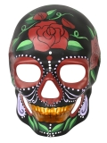 ND4277 Day of the Dead Black with Painted Roses Mask
