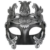 ND4532 CAVALLI Centurion Black & Silver Eye Mask