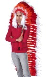 NFHR Indian Headdress Red/White
