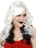 NW5196 Celia Long Platinum with Black Wig
