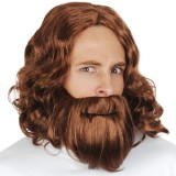 NW7826B Hesus Wig and Beard Brown