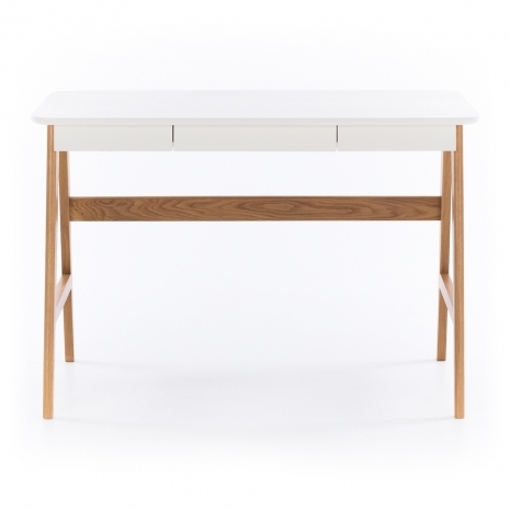 BRRADDESKNEW Radius Desk White Top