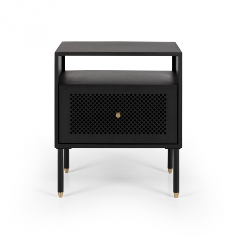 SHDBSBLK1 Dawn Bedside (Black) 1 drawer