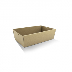 CD1060 Catering /Platter Box Kraft Medium Tall 360x255x80mm