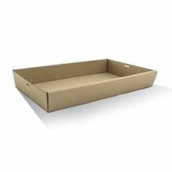 CD1066 Catering /Platter Box Kraft Large Short 560x255x50mm