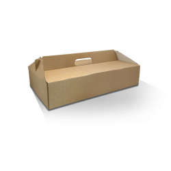 CD2304 Catering Box Pack N Carry Kraft/White Large HBL