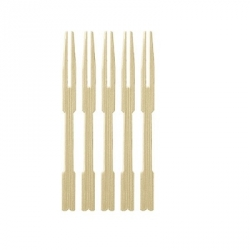 IA0005 Cocktail Forks Bamboo