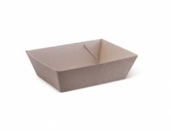 OB0056 Endura Food Tray #1 Kraft 131x91x50mm M393S0010
