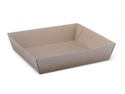 OB0057 Endura Food Tray #2 Kraft Square 178x178x45mm