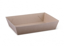 OB0058 Endura Food Tray #3 Kraft 180x134x45mm