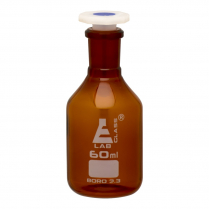 Reagent Bottle Polystop - Amber Glass