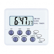 Timer, Double Channel, Includes Magnet/Clip