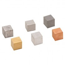 Cube Density, 1cm edge, different materials
