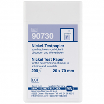 Test Strips Qualitative, Nickel, 20 x 70mm 200pk