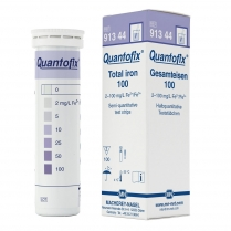 Quantofix Test Strips, 6 x 95mm, Total Iron 0-2-5-10-25-50-100mg/L