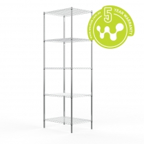 Stainless Steel Wire Shelving 455 x 610 (5 Shelves) CLEARANCE