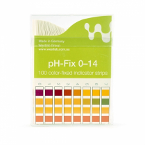 Indicator Test Strips pH-Fix Non-Bleed 6 x 85mm, pH 0-14