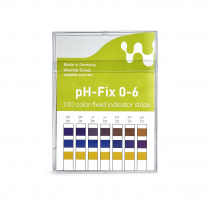 Indicator Test Strips pH-Fix Non-Bleed 6 x 85mm, pH 0-6