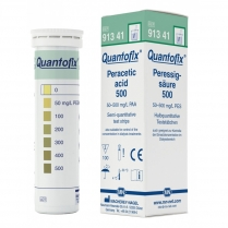 Quantofix Test Strips, 6 x 95mm, Peracetic Acid 0-50-100-200-300-400-500mg/L