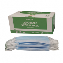 Surgical Face Mask Earloop Blue 3Ply 2R 50pk