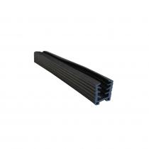 42.4mm Round Top Rail Glazing Rubber - Per Metre