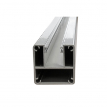 1250mm Base Plated Glazing Post - 1-Way