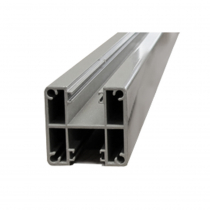 1250mm Base Plated Glazing Post - 2-Way