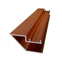 135 DEG Conceal Fix Slat U-Channel - 5800mm - Red Cedar